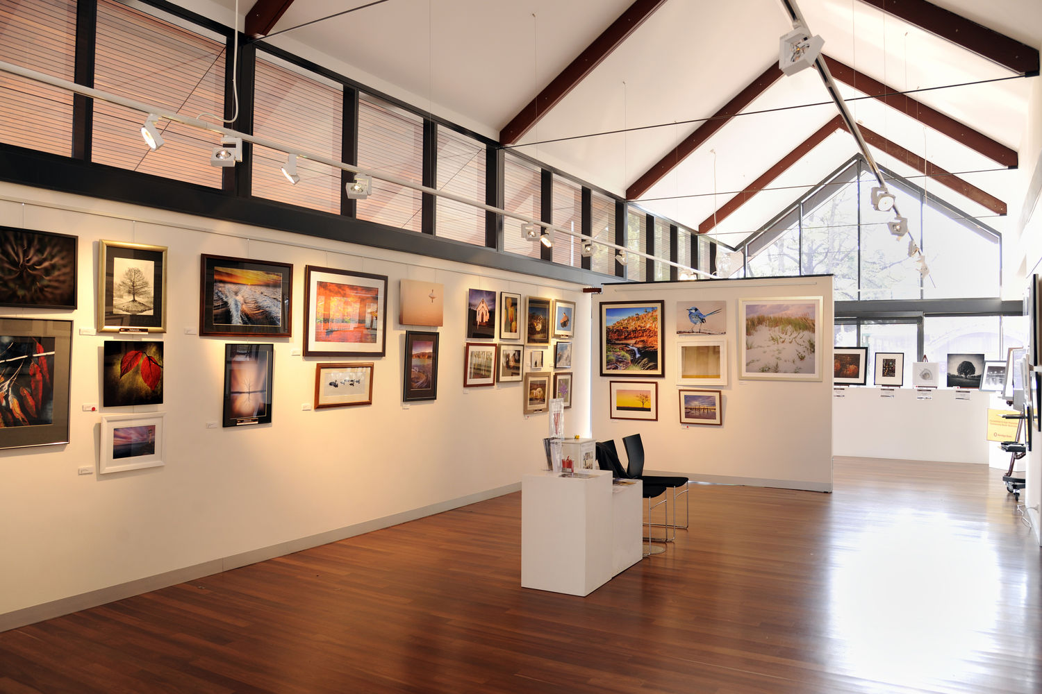 Interior View of the Zig Zag Gallery during one of the exhibitions