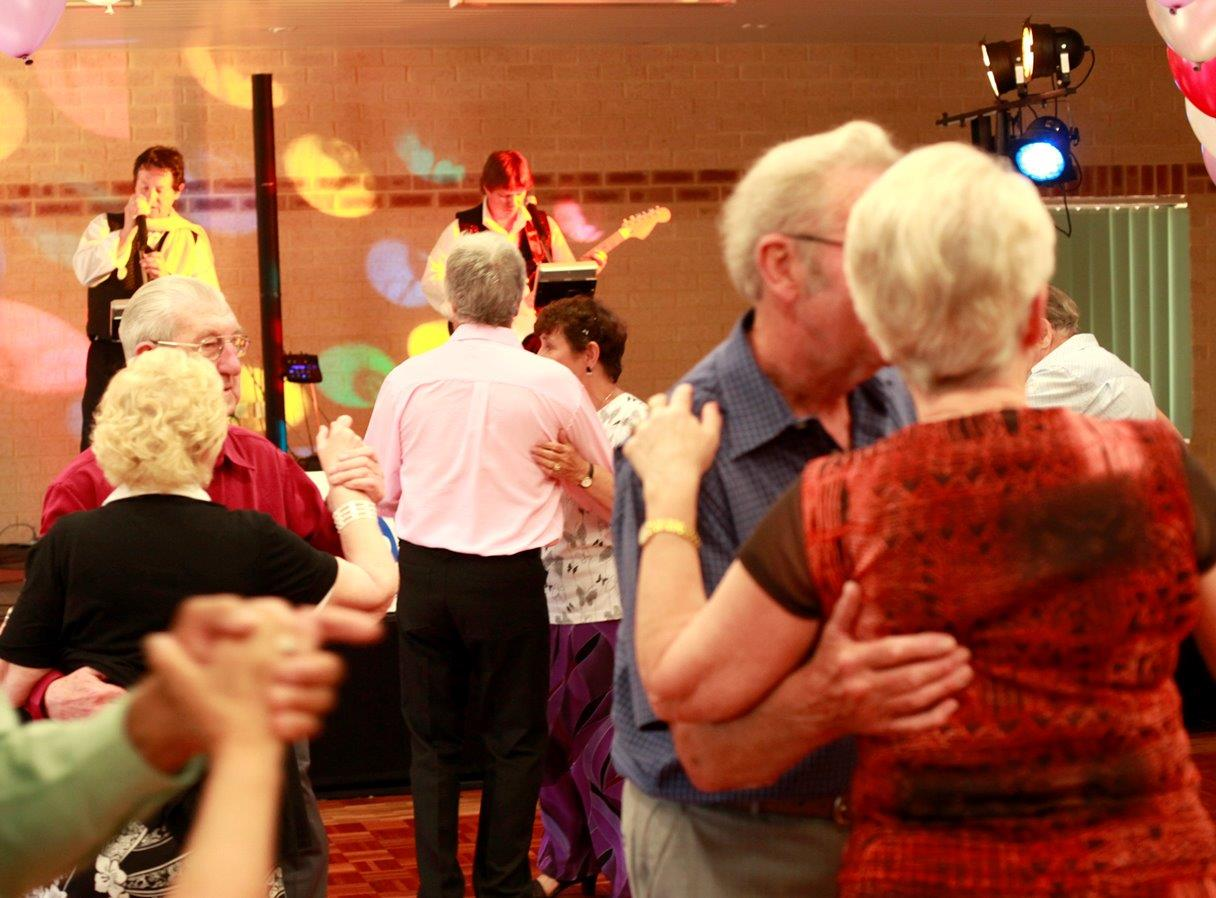 Couples dancing during the annual celebrations of Seniors Week